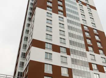 Белые и коричневые цвета в отделке фасадов
